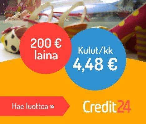 credit24 nettiluotolta ensimmäinen nosto ilman kuluja
