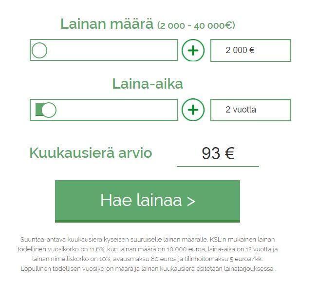 etua.fi lainalaskuri laskee korot valmiiksi sinulle