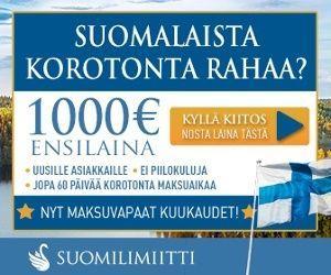 Suomilimiitti - lainaa tekstiviestillä ilman pankkitunnuksia 0% korolla 1000 € saakka!