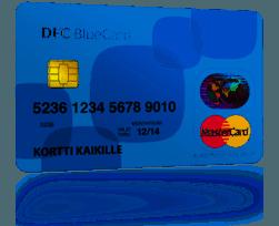 dfc bluecard mastercard on turvallinen korttiluotto ja kulkee taskussasi avaruuteen asti