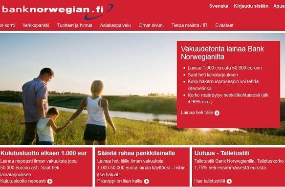 Bank Norwegian pankkilainalla yhdistät lainat silmänräpäyksessä netissä!