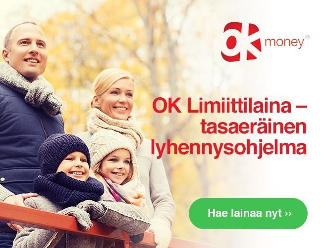 uusi OK Money Limiiittilaina on tasaerissä lyhennettävä luotto netissä