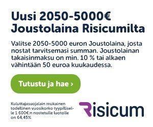 risicum-joustolaina tekee ihmeitä ja se on loistokeino kun rahaa pitää saada pian suoraan verkon kautta