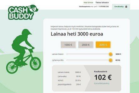 cashbuddy on uusi pikalaina netissä johon voi saada lainapäätöksen jopa sekunneissa
