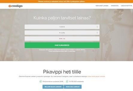 credigo on uusi ja edullinen lainapalvelu netissä