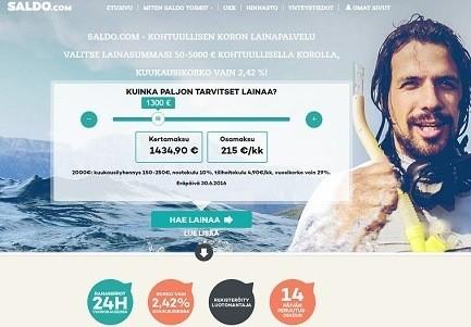 uusi saldo.com tarjoaa kohtuullisen koron lainoja