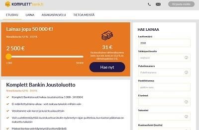Komplett Bankista tuli 2018 vuonna yksi suosituimmasta paikoista, joista ihmiset hakivat lainaa verkkopankkitunnuksillaan