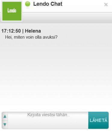 Uutuutena Lendon asiakaspalvelun Live-Chat, josta saat vastaukset kysymyksiin heti.