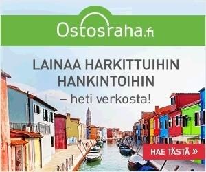 ostosraha.fi lainaa 3000e heti tilille harkittuihin hankintoihin ilmaiseksi verkossa