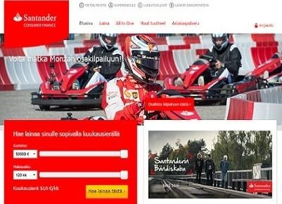 sandander consumer laina on netissä haettava kulutusluotto 50.000 euroon saakka
