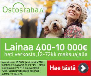 Ostosraha lainaa viikonloppuisin ajantasasiirtona 400-5.000€ heti verkosta