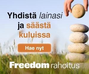 freedom rahoitus-palvelusta tavoitat yhdellä hakemuksella 10 lainanmyöntäjää joka yksinkertaistaa luotonhakijan elämää