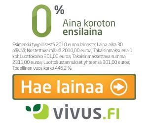 Vivus.fi lainaa ilmaiseksi kaikille uusille asiakkaille nopeasti netistä