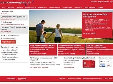 Lainaa ilman vakuuksia ja takaajia Bank Norwegianilta parhaalla pienellä korolla