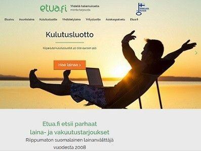 Etua.fi etsii ja välittää vakuudettomat lainat supernopeasti.