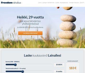 Freedom Rahoitus on yhdistänyt ja rahoittanut kymmenien tuhansien suomalaisten lainatarpeita