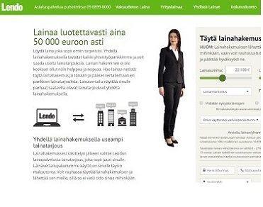 Lendo on Suomen suosituin ja modernein lainanvälittäjä netissä