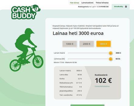 CashBuddy on kulutusluotto joka on kuin pikalaina.