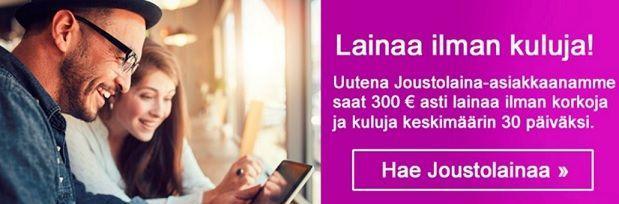 Uutta Risicumilla on nyt 300 euroon asti ulottuva kuluton 30 vuorokauden laina.