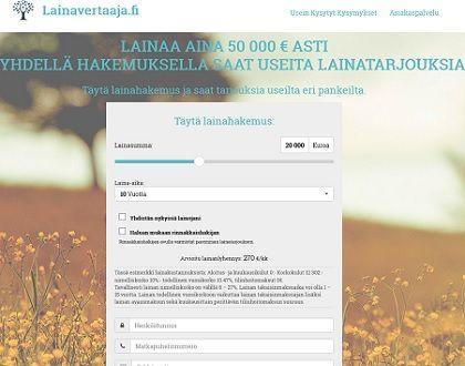 Lainavertaaja.fi on lainavertaajien ykkösnimi.