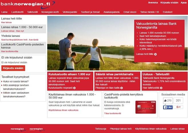 Bank Norwegian on tunnettu pankki, jossa sinä hoidat raha-asiasi ja taloutesi rapakunnosta mahtikuntoon!