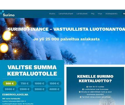 Surimo on nopea suomalainen palvelu, josta saat kulutusluoton heti käyttöön.