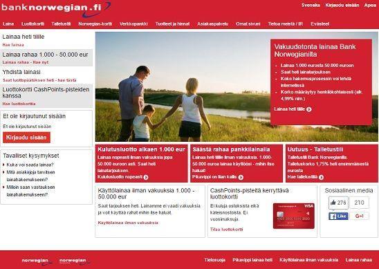 Kulutusluottovertailu valitsi 2017 johtotähdeksi norjalaisen pankin.