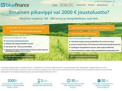 Bluefinance on nopea 2011 vuodesta asti toiminut lainapalvelu netissä.