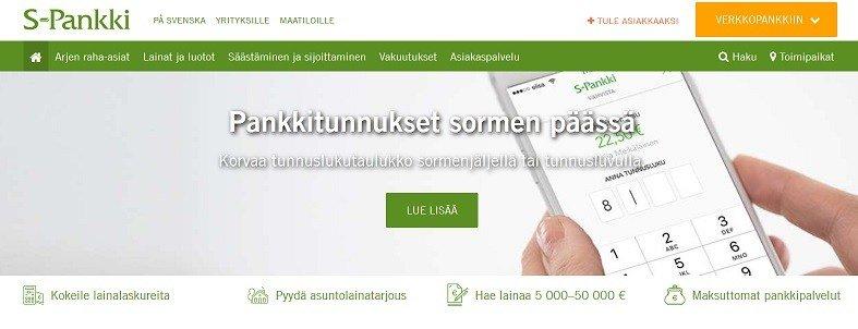 S-Pankissa asioit onlinessa helposti pelkällä matkapuhelimella.