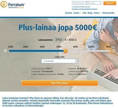 Ferratum Plus-laina on paitsi vakuudeton ja takaukseton, on se samalla minuuteissa käyttötililläsi.