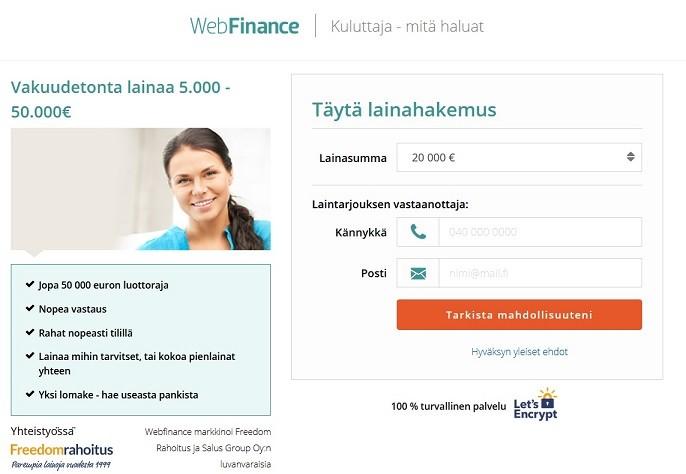 WebFinance kokemuksia ja esittely