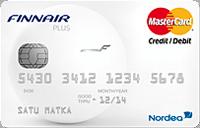 Finnair Plus Mastercard on lentopisteluottokortti, jolla kerrytät Finskin pinnoja näppärästi.