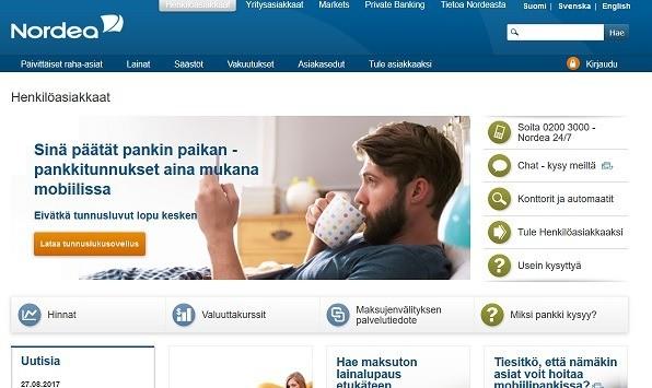 Nordea pankki on joustava, ajan tasalla ja suunnattu kaikille asiakkaille.