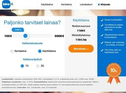 Laina.fi on vanha perinteinen laina, jota saat käyttöluottona joustavasti tai kertalainana.