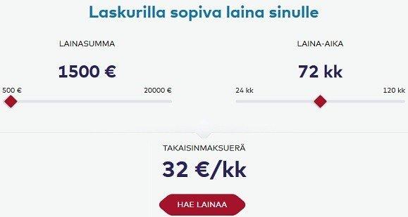 Lainaamo.fi lainalaskurilla räätälöit sopivan lainan itsellesi.