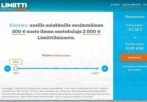 Limiitti on ensiasiakkaille 300 euroon asti koroton ja se ei jahkaile vippipäätöksen suhteen.