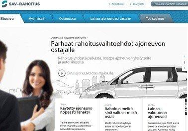 SAV-Rahoitus: Lainaa ajoneuvoon, jossa vakuutena toimii itse auto tai moottoripyörä.