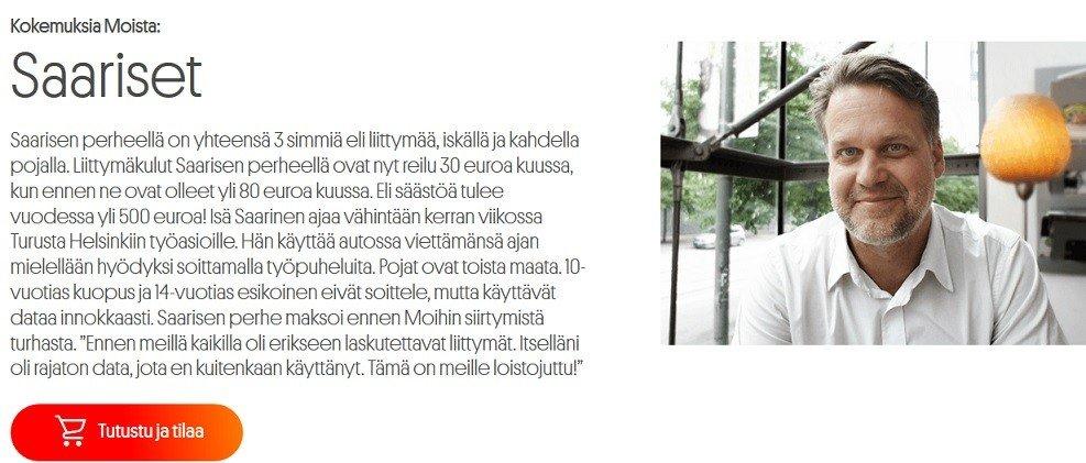 Saarisen perheen kokemus Moi Mobiilista on positiivinen ja säästöä tulee 50 euroa kuukaudessa.