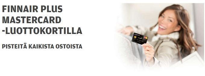 Finnair Plus Mastercard luottokortti: kerää pisteitä kaikista ostoista ja lue asiakkaiden kokemuksia.