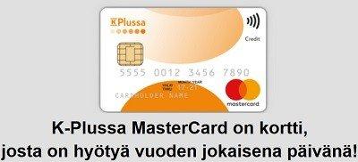 K-Plussa kortista hyödyt 365 vuorokautena vuodessa.