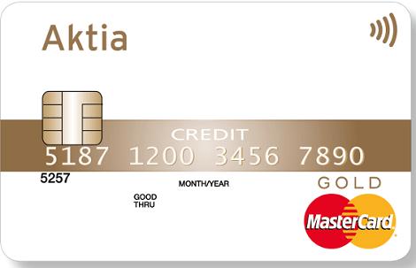 Aktia Mastercardin luottokortti on kaikkien pankkien asiakkaille ja aina ilmainen