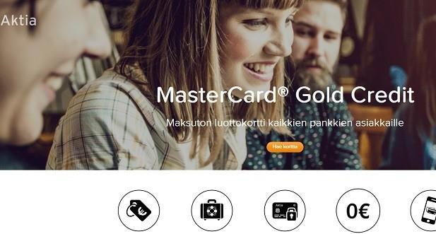 Aktia MasterCard Goldilla teet ostokset netissä ja kaupoissa turvallisesti.