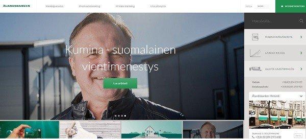Ålandsbanken hoitaa kaikki raha-asiat, lainat, sijoituksen liittyvät jutut jne.