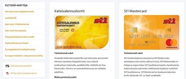 St1 MasterCard on luottokortti, jossa on kansainväliset maksuominaisuudet ja sillä hoidat kaikki ostokset maailmanlaajuisesti kätevästi.