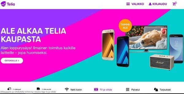 Telia puhelin ja nettiliittymissä on ale päällä vuoden ympäri ja se alkaa Telia-kaupasata!