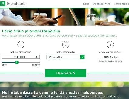 Instabankin uusi laina on tehty puhtaasti arjen helpottamista varten.