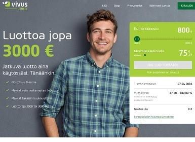 Joustavaa lainaa heti netistä luottokortin ominaisuuksilla