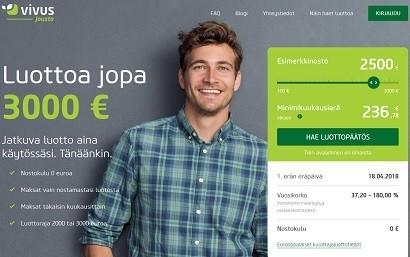 Uusi joustolaina on nyt nimeltään Vivus Jousto, entinen Fleksiluotto lainaa jopa 3000 euroa joustavasti.