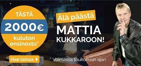 2 tonnin ilmainen lainatarjous: Nyt ei pidä päästää Mattia kukkaroon, vaan on aika toimia!
