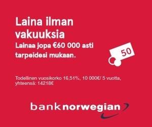 Talouteen.com suosittelee: Lentoyhtiön lainaa heti tilille